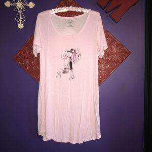 NWOT Laura Ashley Pink & White Striped Nightgown